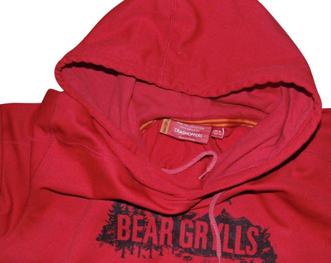 Mens Bear Grylls Craghoppers red hoodie medium Sweatshirt - VSA166