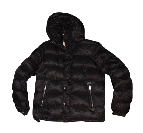 Mens Burberry Brit black puffa down winter coat jacket Large NEW - VSH125.-Classic Clothing Crib