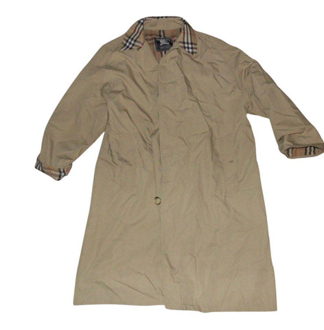 Mens Burberrys beige long winter smart trench coat / mac XL Hernando Madrid VSH108.-Classic Clothing Crib