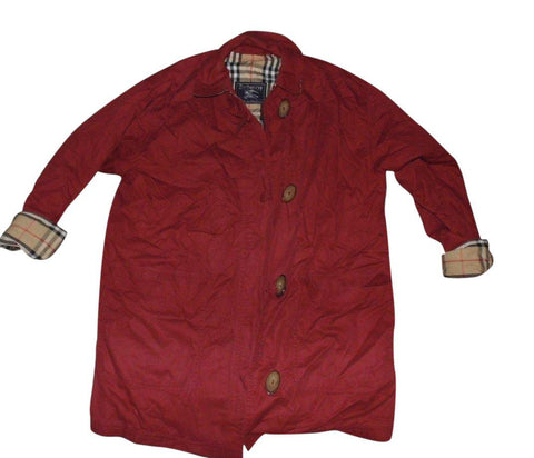 Mens Burberrys red winter coat Large / xl - VSH106.-Classic Clothing Crib