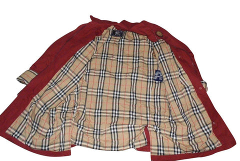 Mens Burberrys red winter coat Large / xl - VSH106.