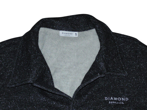 Mens Diamond Supply Co. black spotted sweatshirt jacket size XL - VSD157
