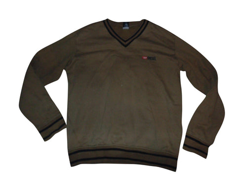 Mens Diesel brown v neck sweater / jumper XL - VS145.-Classic Clothing Crib