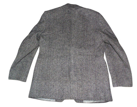 Mens Harris Tweed Freedom blazer jacket black & beige herringbone 107cms VS118-Classic Clothing Crib