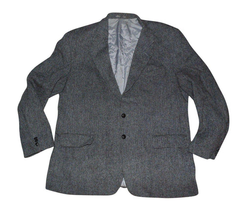 "Mens Harris Tweed Jenners Edinburgh blazer jacket Large 48"" Long MINT-Classic Clothing Crib"