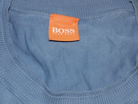 Mens Hugo Boss Kladio charcoal crewneck jumper XL - VSE136.-Classic Clothing Crib