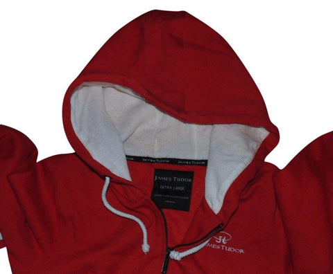 Mens James Tudor red zip hoodie xl Sweatshirt