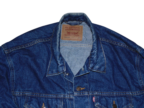 Mens Levi's 71506-0216 blue denim jacket - XL size 48 - VSI123.-Classic Clothing Crib