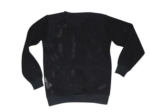 Mens Nike Air black crewneck mesh style sweatshirt top Large - VSE156.