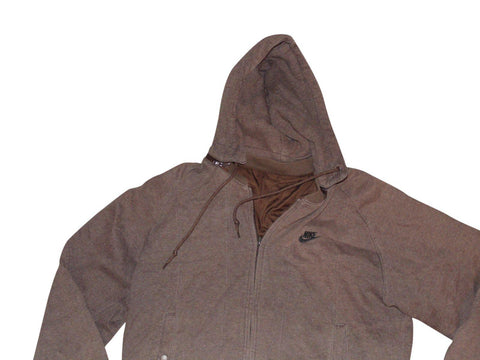 Mens Nike brown reversable hoodie jacket - large - VSG180-Classic Clothing Crib