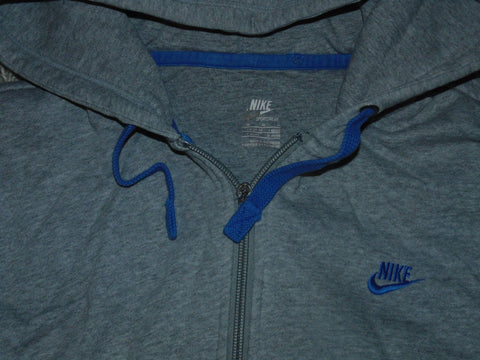 Mens Nike grey zip hoodie / sweatshirt size medium - VSM171.
