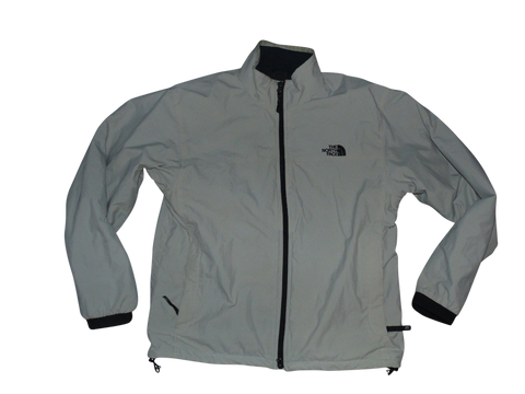 Mens North Face beige fleece jacket coat - medium mens - VSF116-Classic Clothing Crib