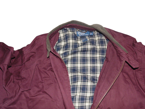Mens Ralph Lauren claret Harrington style jacket casuals West Ham - XL - VSA120