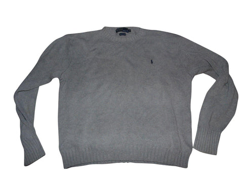Mens Ralph Lauren grey heavy wool jumper XL - VSA134.-Classic Clothing Crib