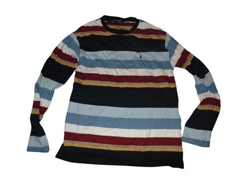 Mens Ralph Lauren multi colour crew neck sweatshirt jumper medium - VSA137-Classic Clothing Crib