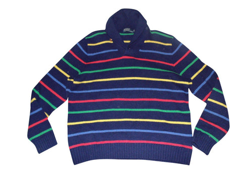 Mens Ralph Lauren multi colour shawl wool jumper xl - VSA131