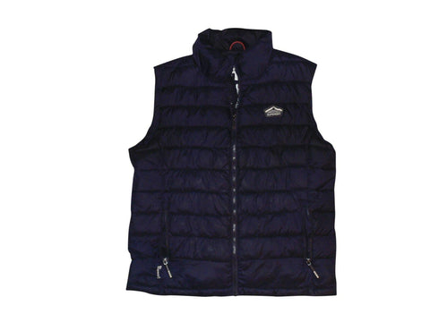 Mens Superdry Fuji navy blue quilted gilet jacket - 3XL - VSC127.-Classic Clothing Crib