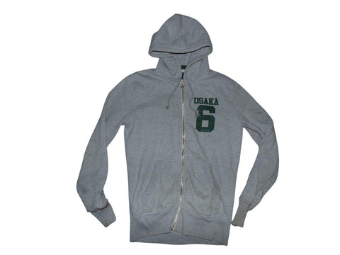 Mens Superdry Osaka 6 grey zip hoodie medium Sweatshirt - VSA161.