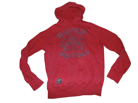 Mens Superdry Pistols red hoodie, sweatshirt medium - VSC170.-Classic Clothing Crib