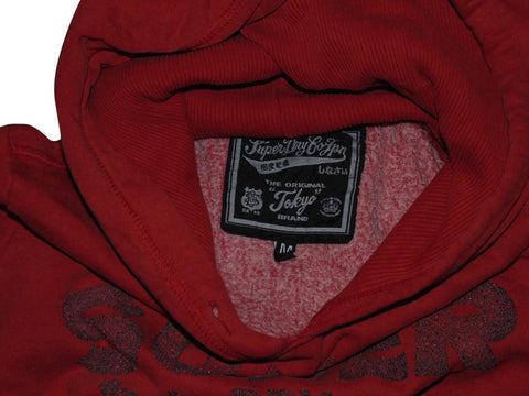 Mens Superdry Pistols red hoodie, sweatshirt medium - VSC170.