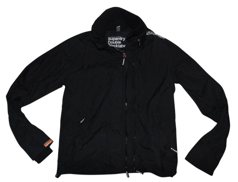 Mens Superdry black double blacklabel jacket - large - VSC109