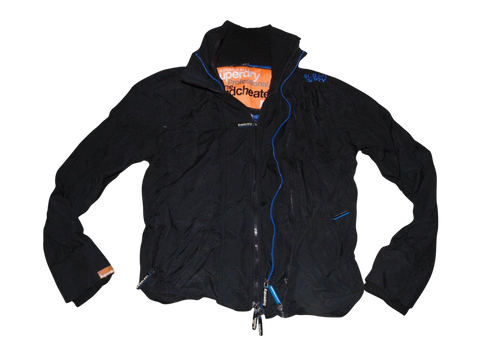 Mens Superdry black windcheater jacket - medium coat - VSJ101-Classic Clothing Crib