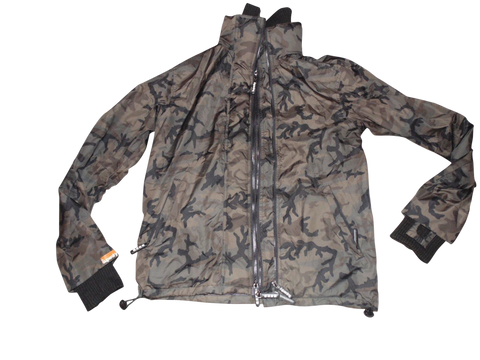 Mens Superdry olive camouflage windcheater jacket - large coat - VSJ115-Classic Clothing Crib