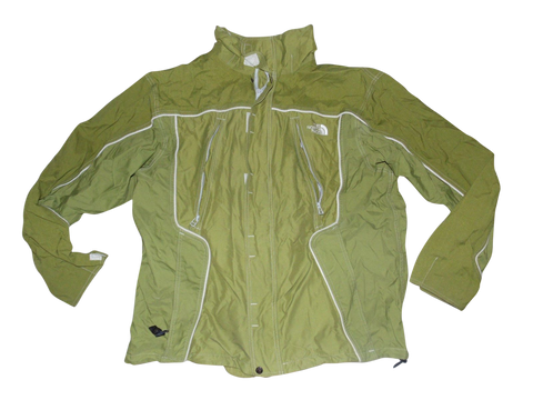 Mens The North Face Invert System green jacket with fleece vest - XL Winter coat - VSJ118.-Classic Clothing Crib