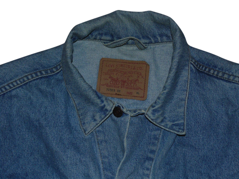 Mens Vintage Levis 70503 02 blue stonewash denim trucker jacket - XL - VSJ124.-Classic Clothing Crib