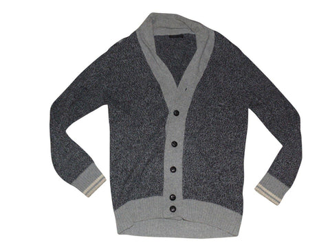 Mens ZARA MAN grey wool cardigan size XL - VSD177.