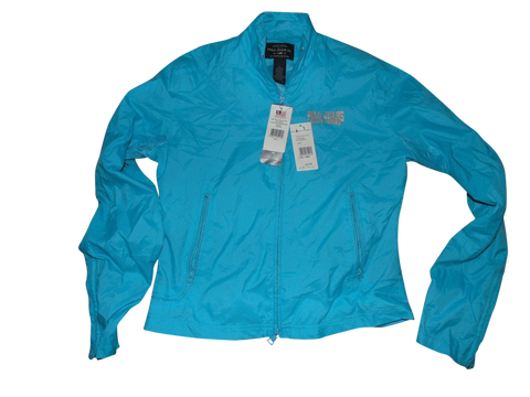NEW Ladies Ralph Lauren blue zip waterproof rain jacket Large SKYLER WINDBREAKER VSA107-Classic Clothing Crib