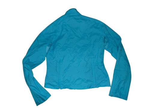 NEW Ladies Ralph Lauren blue zip waterproof rain jacket Large SKYLER WINDBREAKER VSA107