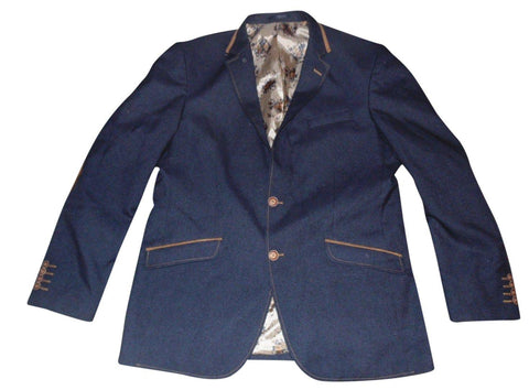 NEW Mens Claudio Lugli Premium navy blue blazer jacket Size 58 KOBAN CL 1049-A - VSE114-Classic Clothing Crib