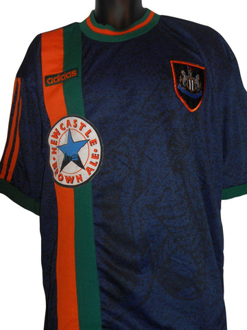 Newcastle United 1997-98 away football shirt XXL mens #S219.-Classic Clothing Crib