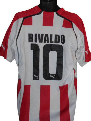Olympiakos 2005-06 Home shirt XXL Mens RIVALDO 10 #S897.-Classic Clothing Crib