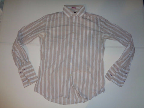 "Paul Smith blue & brown stripes shirt 16"" / 41 mens- S5539"