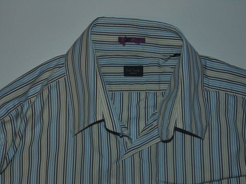 "Paul Smith multi colour stripes shirt 16"" / 41 Large Mens - S6050"