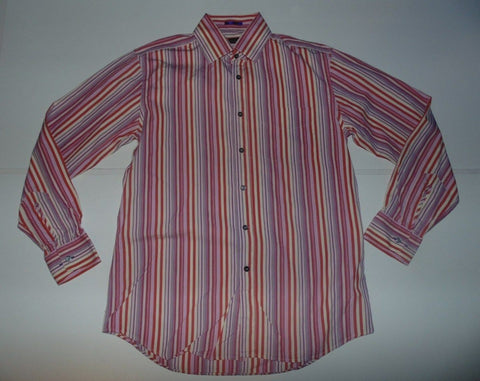 "Paul Smith pink stripes shirt 16"" / 41 Large Mens - S6051"