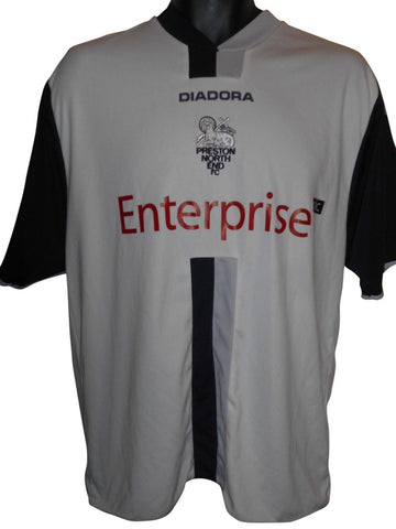 Preston NE 2006 Away -07 Home shirt Large mens #S845.