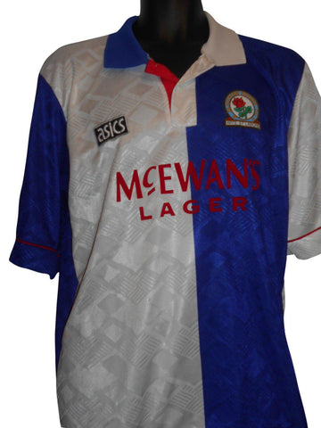 Blackburn Rovers 1992-93 home shirt XL mens #S229.