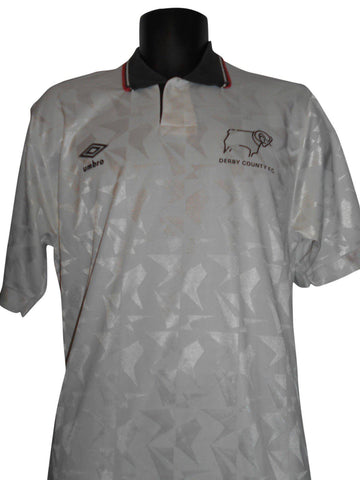 Derby County 1990-91 Home shirt xl mens #S67.