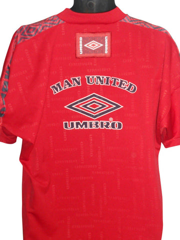 Manchester United mid 90's training shirt Large mens #S87.