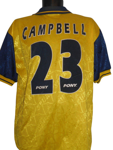 Tottenham Hotspur 1995-97 away shirt Medium mens CAMPBELL 23 #S235.