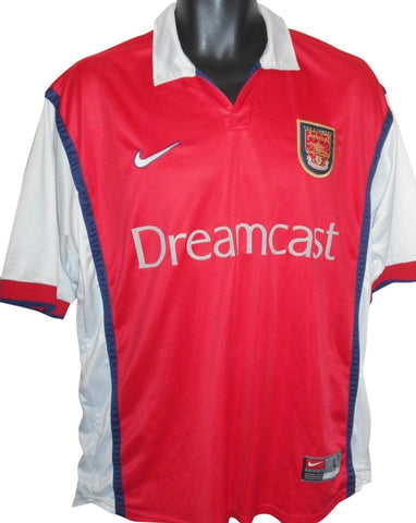 Arsenal 1999-00 home shirt Large mens #S813.