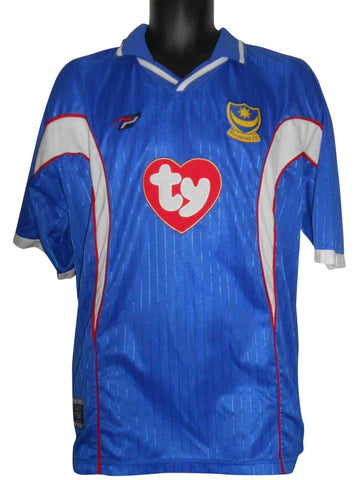 Portsmouth 2002-03 home shirt XL mens #S429.