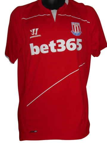 Stoke City 2014-15 home shirt Large mens #S735.