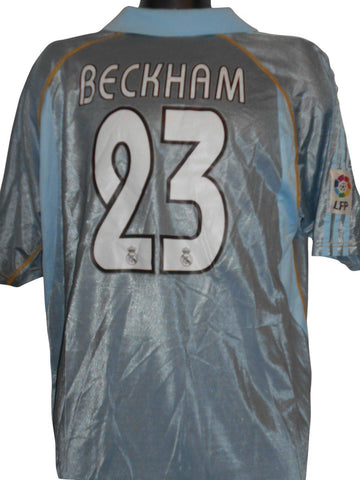 Real Madrid 2003-04 away shirt XL Mens BECKHAM 23 #S255.-Classic Clothing Crib