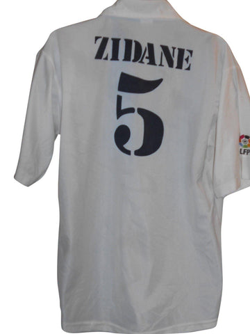 Real Madrid 2002-03 home shirt Large Mens ZIDANE 5 #S895.