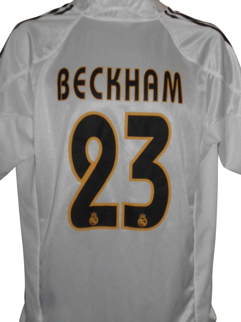 huge selection of 5508a d3ac8 Real Madrid 2004-05 home shirt Medium Mens BECKHAM 23 #S870.