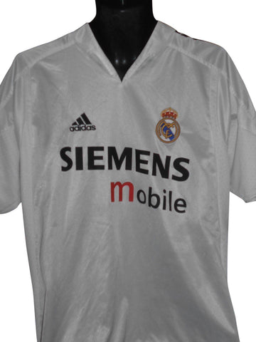 Real Madrid 2004-05 home shirt Medium Mens BECKHAM 23 #S870.